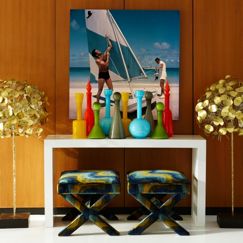 Jonathan Adler - Pop glass decanters - lifestyle - Portrait
